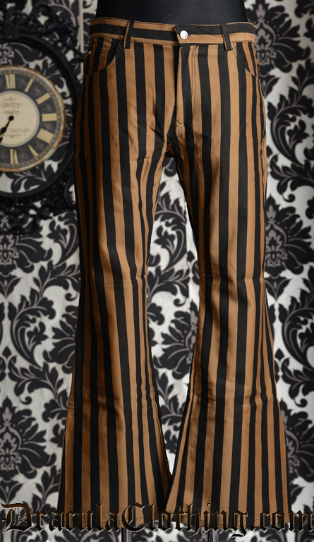 Wide Steampunk Striped Pants