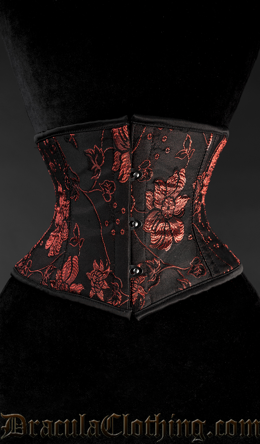 db1a451d5c8 Red Floral Waist Cincher