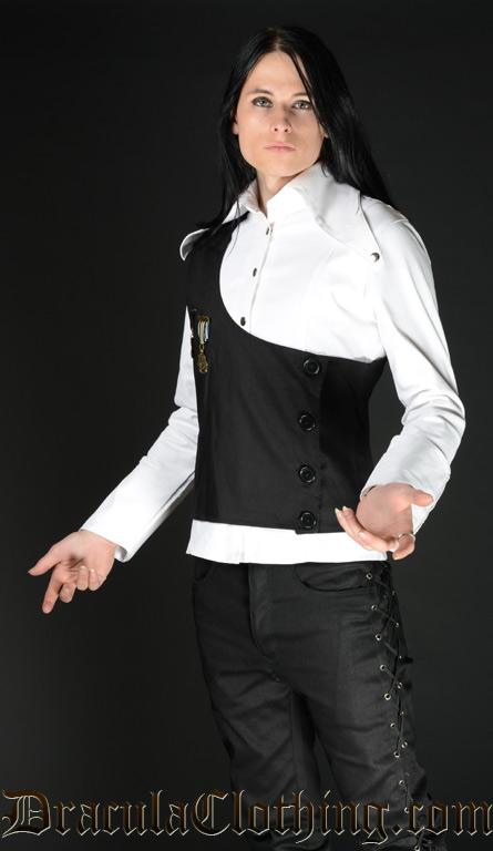 Asymmetrical vest