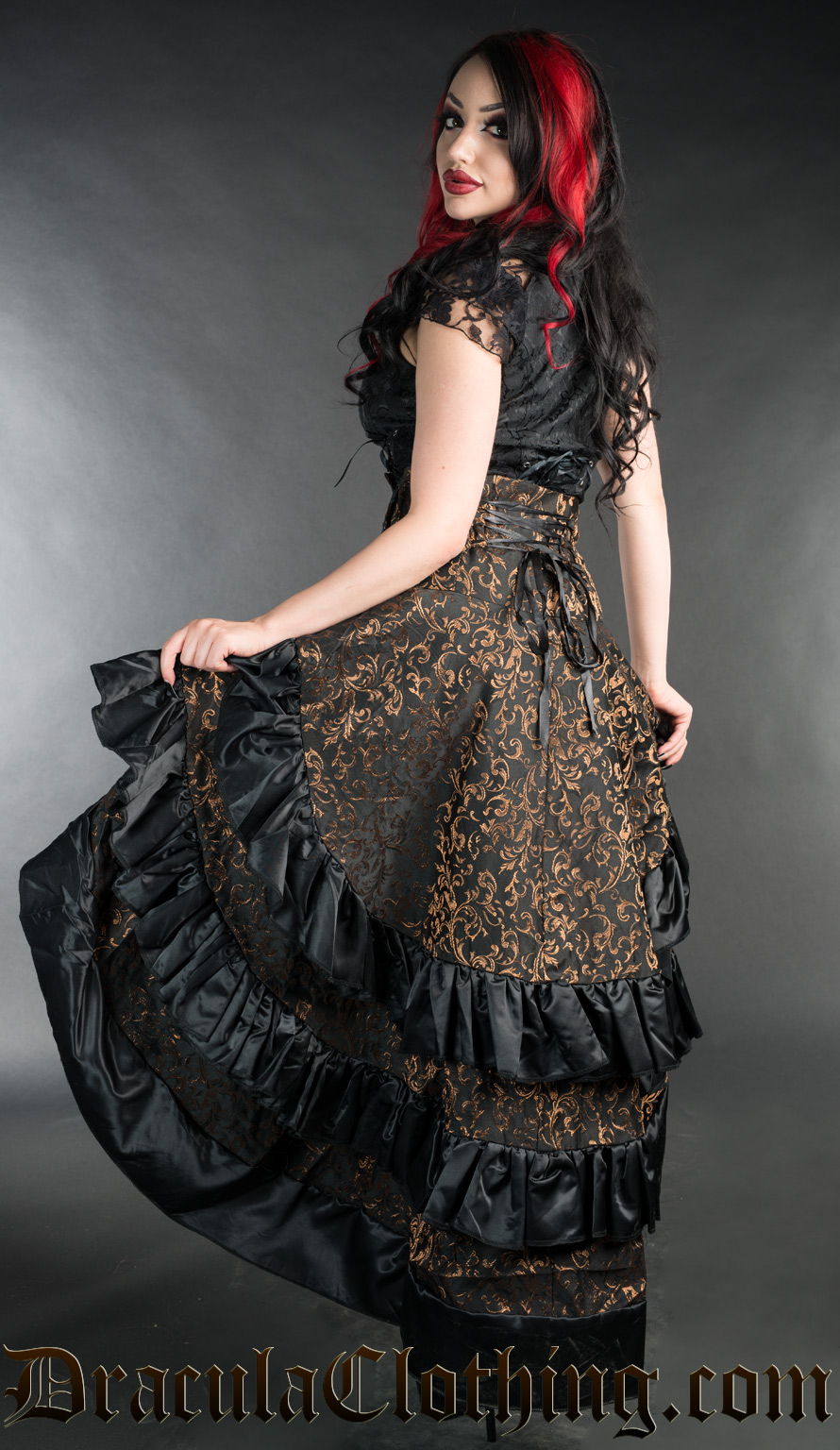 Axinite Layer Bustle Skirt