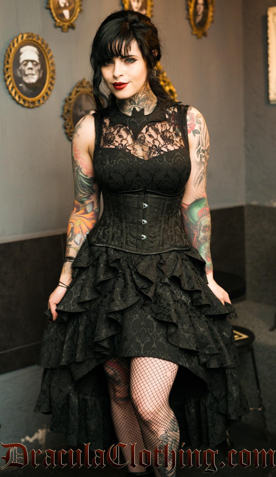Bat Ruffle Dress
