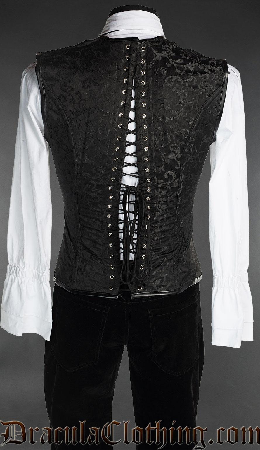 Black And Purple Corset Vest