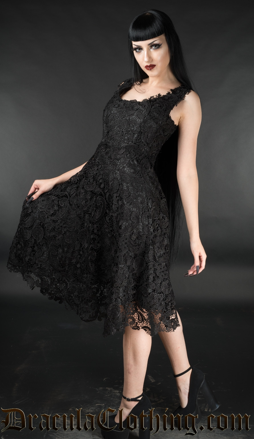 Black Art Deco Dress
