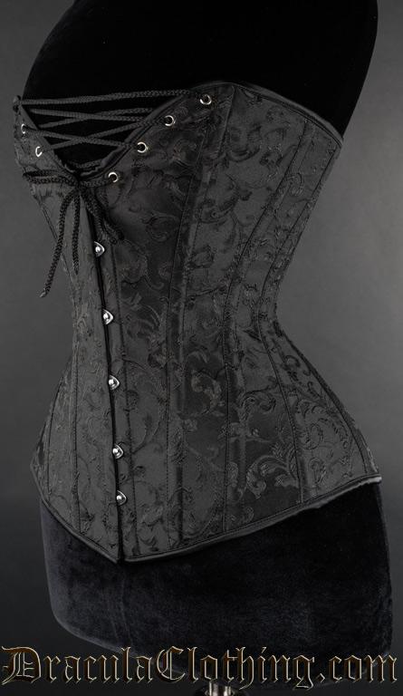Black Brocade Cleavage Corset