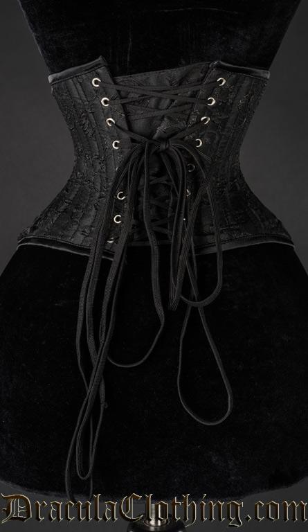 Black Brocade Extreme Waist Cincher