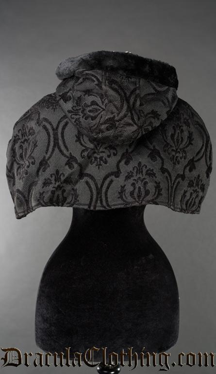 Black Brocade Hood