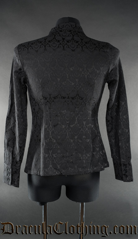 Black Brocade Naval Shirt