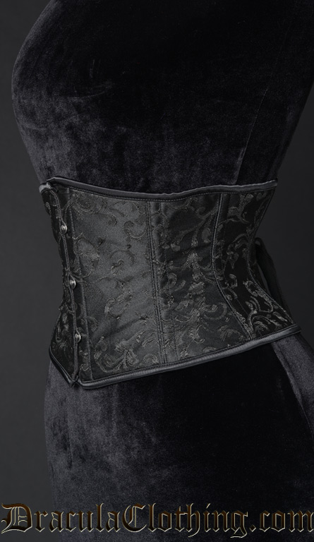 Black Brocade Waist Cincher