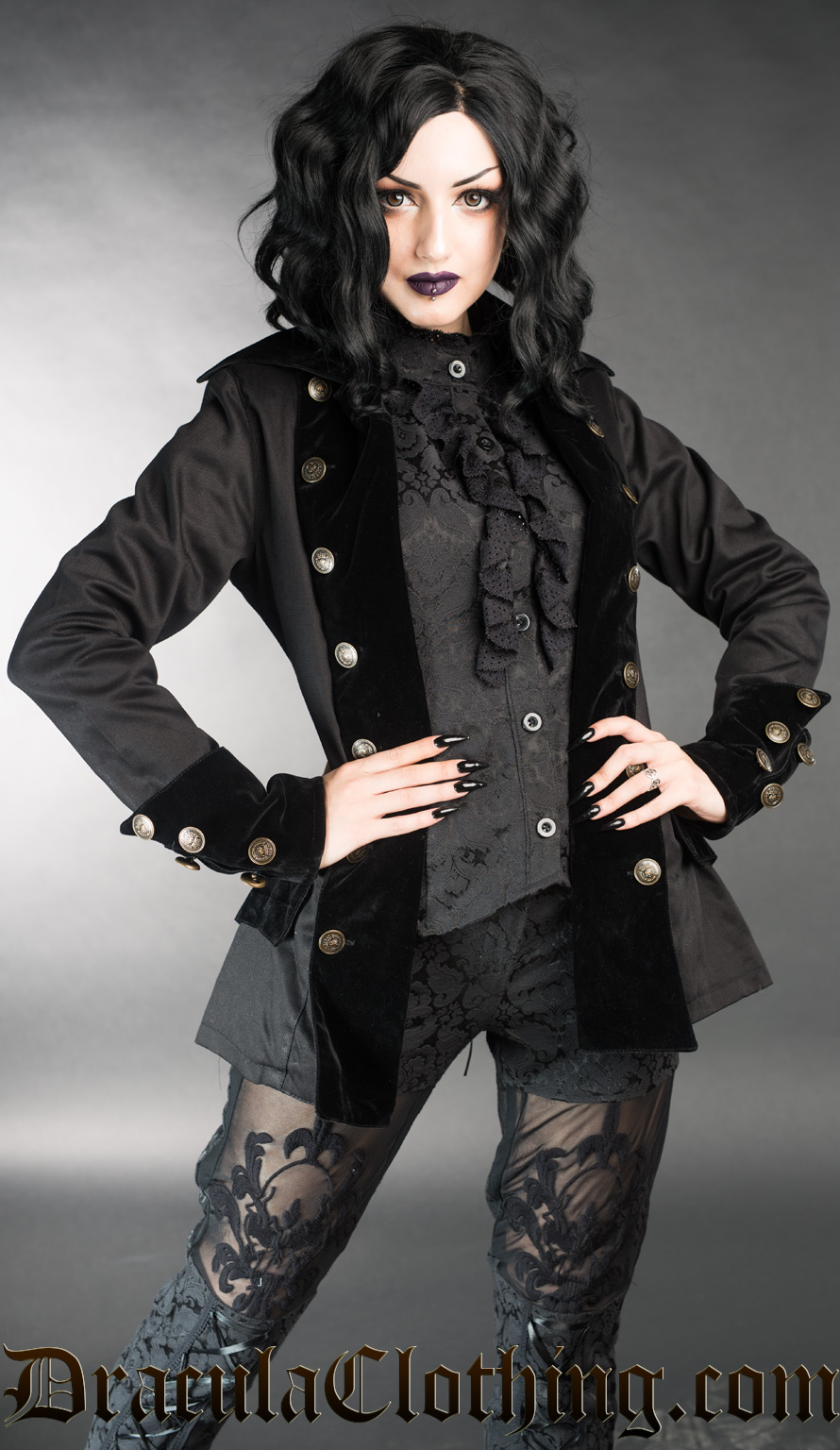 Black Female Pirate Jacket