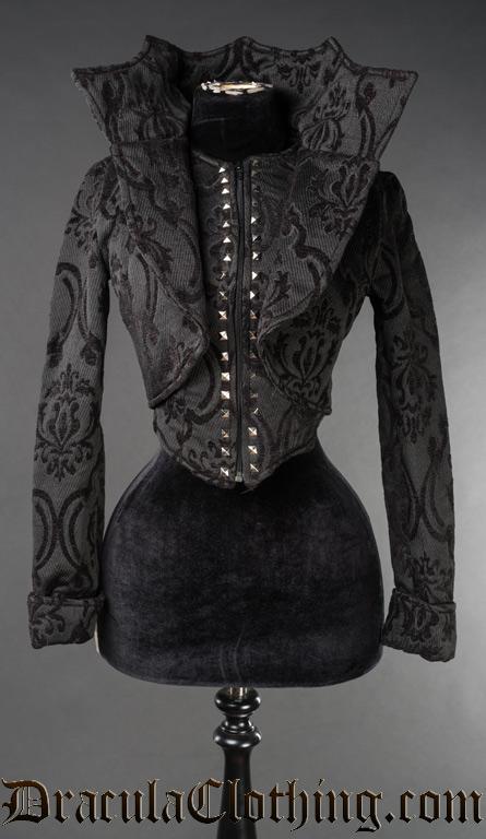 Black Brocade Evil Queen Jacket