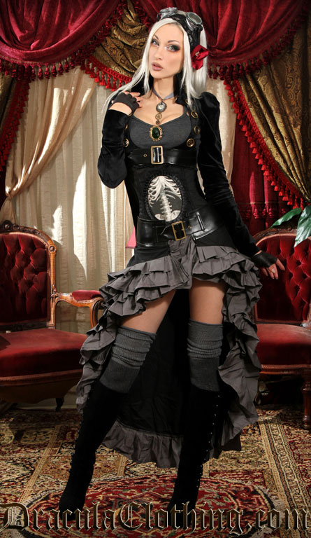 Kato Steampunk Dress Black Openbust ...