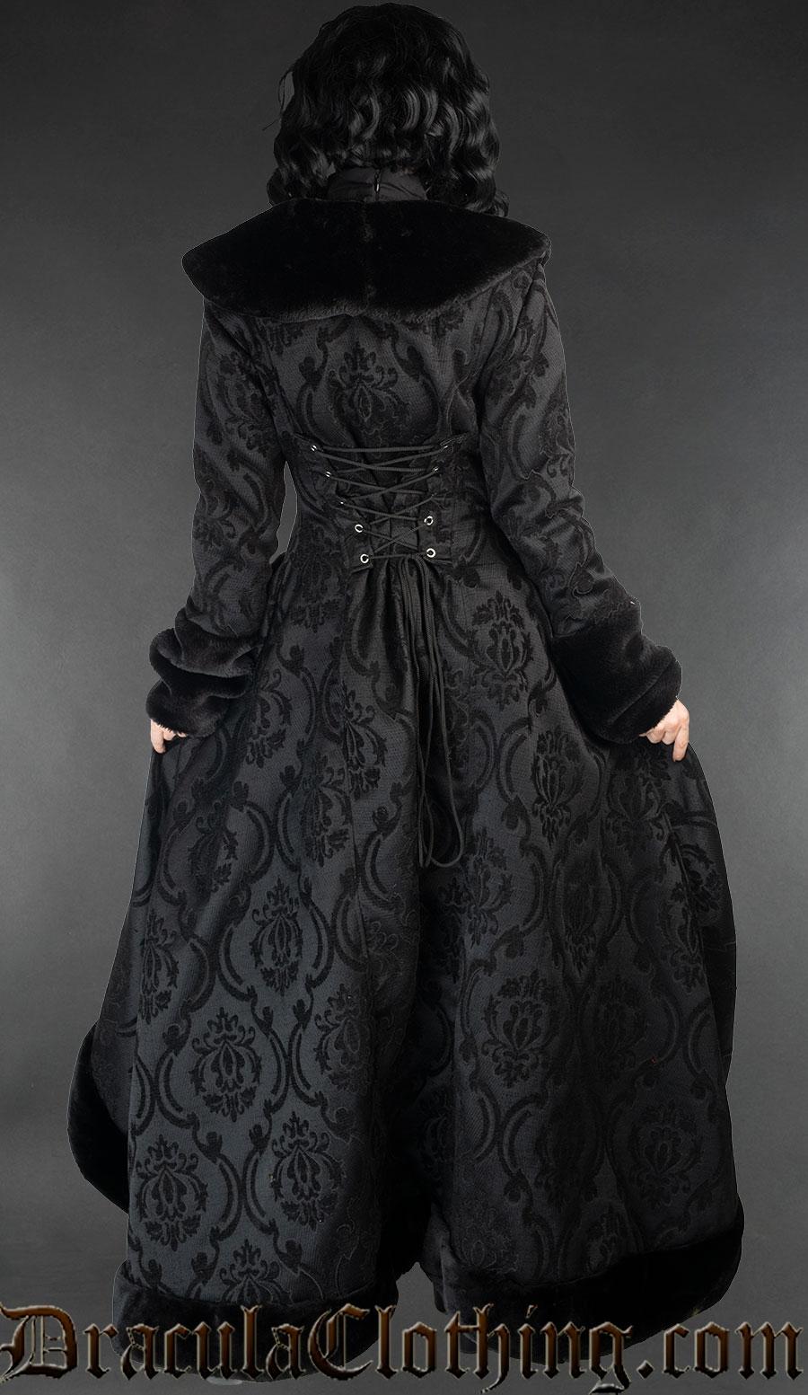 Black Pocket Winter Coat