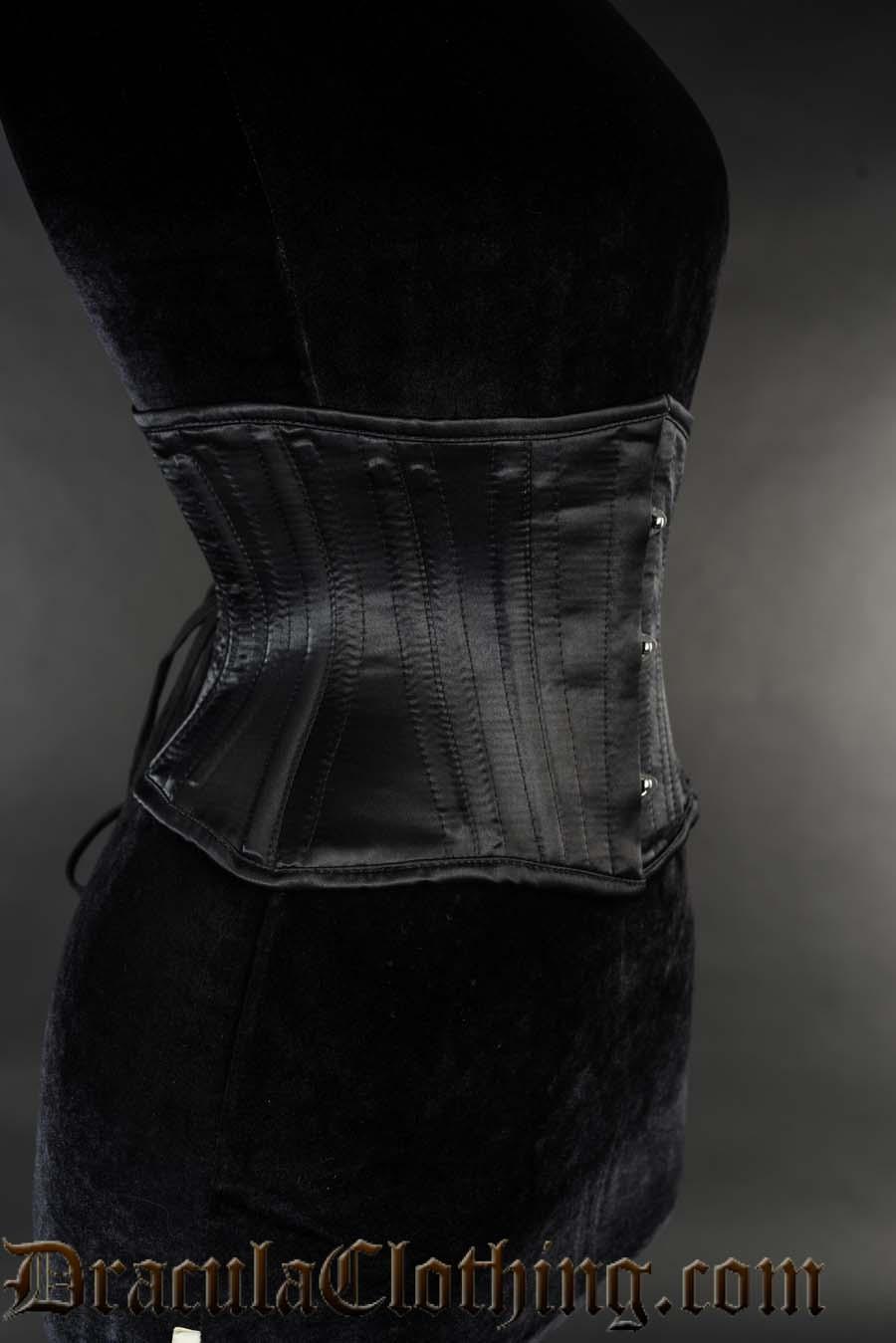 Black Satin Extreme Waist Cincher