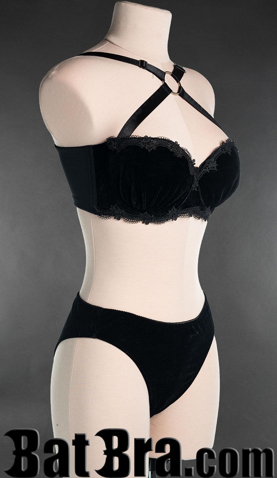 Black Velvet Lace Bra