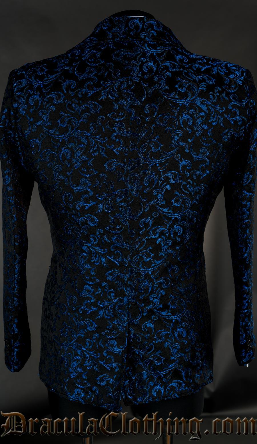 Blue Brocade Suit Jacket