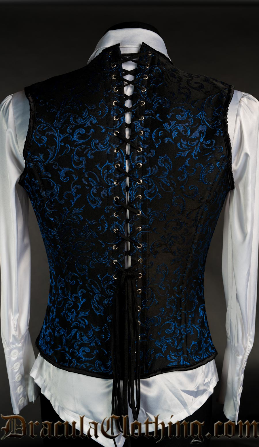 Blue Brocade V-Shaper