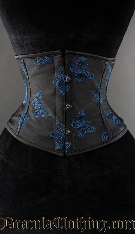 Blue Butterfly Waist Cincher