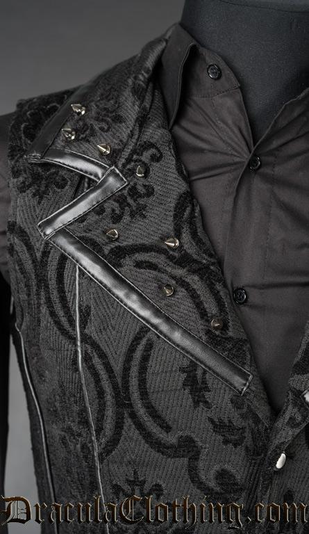 Spiked Brocade Vest