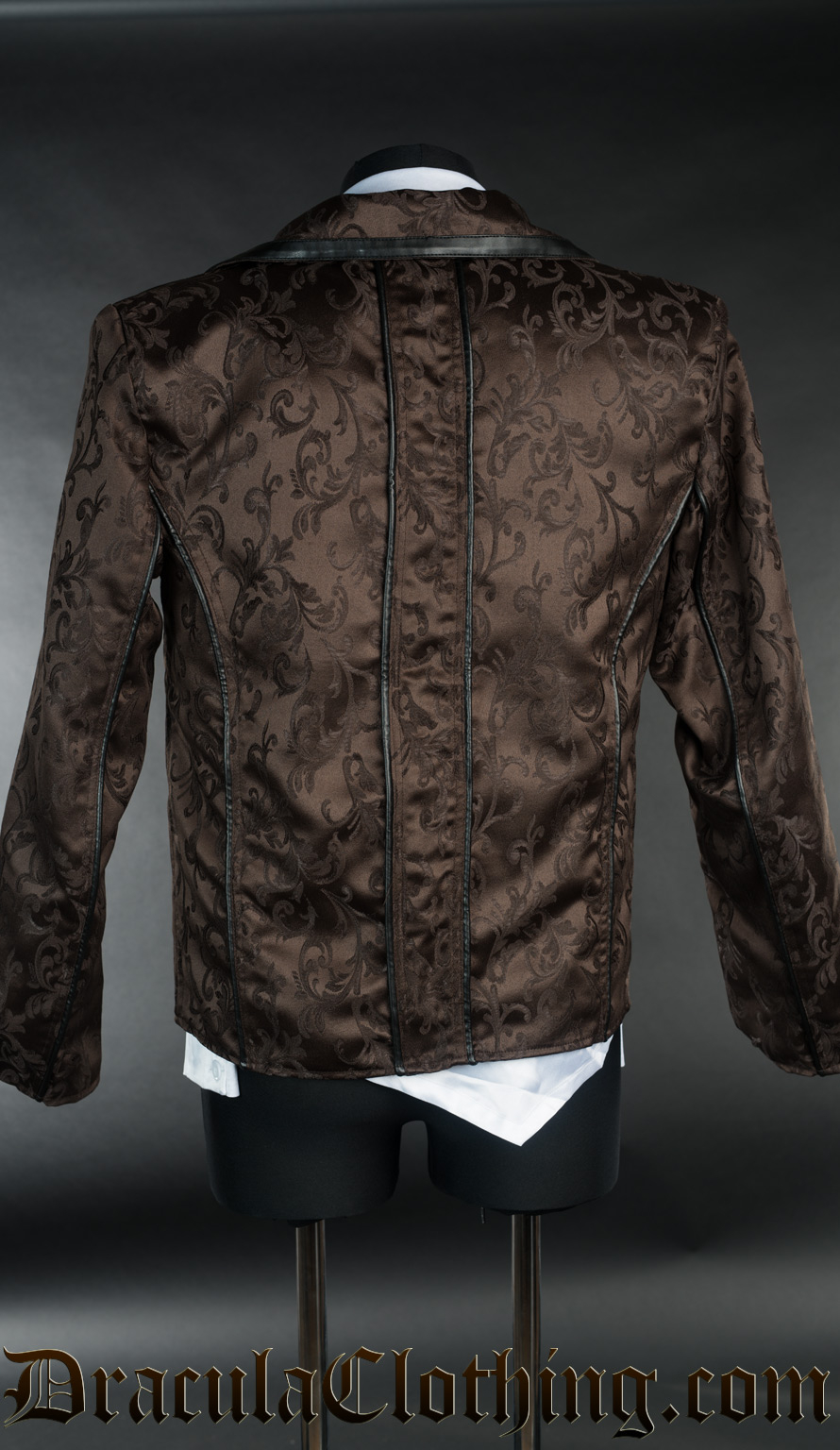Brown Brocade Tesla Jacket