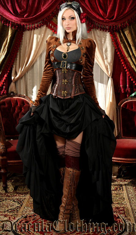 Kato Steampunk Dress Brown Openbust ...