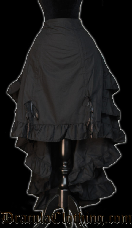 Black Layer Bustle Skirt - Old Sizes