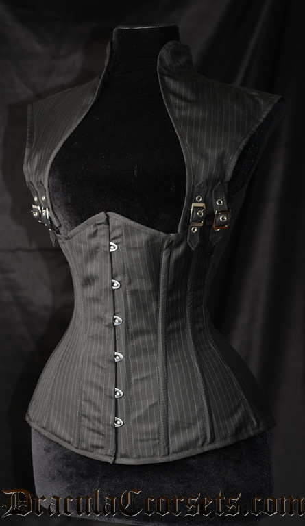 [MULTI-STYLES] Gilet corseté façon Dracula's Clothing Corporate-goth-corset