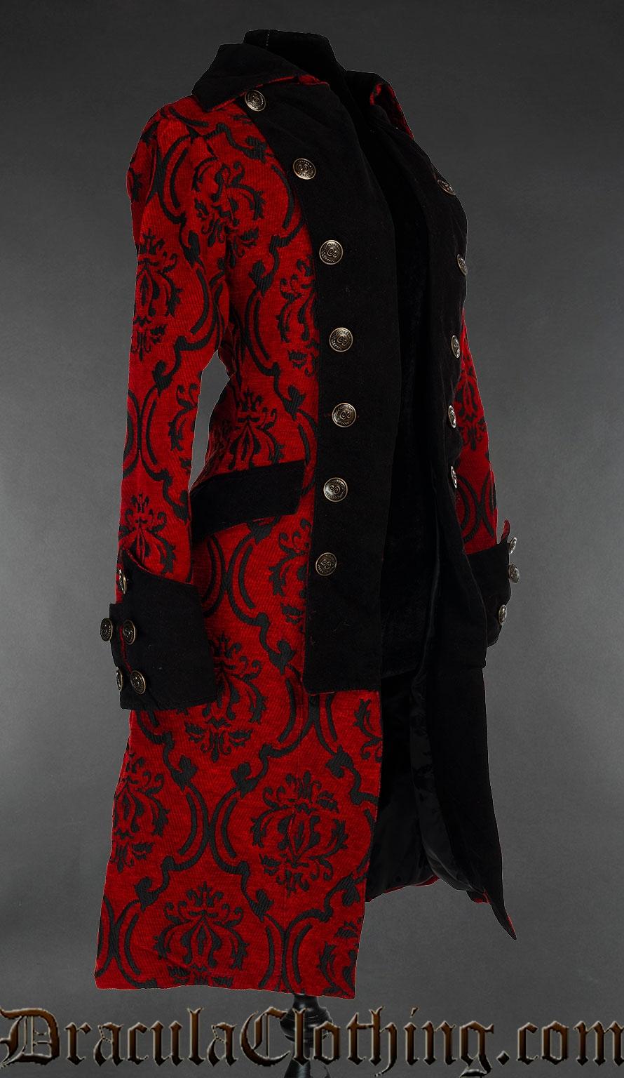 Crimson Pirate Princess Coat