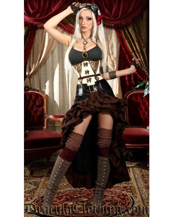 Black and Brown Vex Skirt