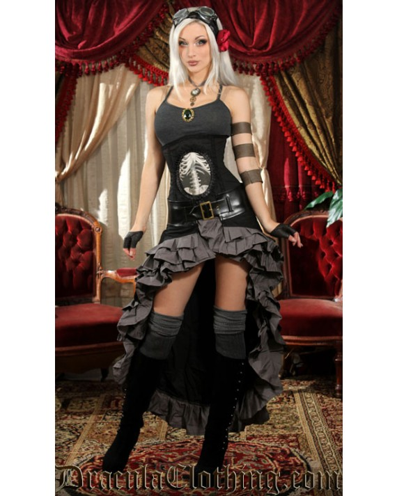 Black and Grey Vex Skirt
