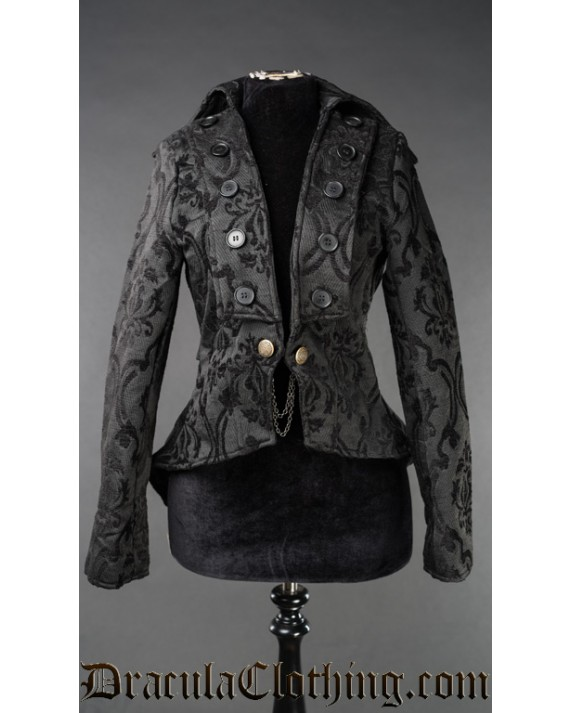 Black Brocade Titania Jacket