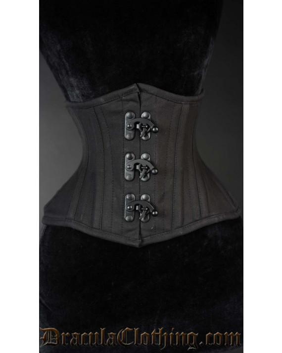 Black Cotton Extreme Waist Clasp Cincher