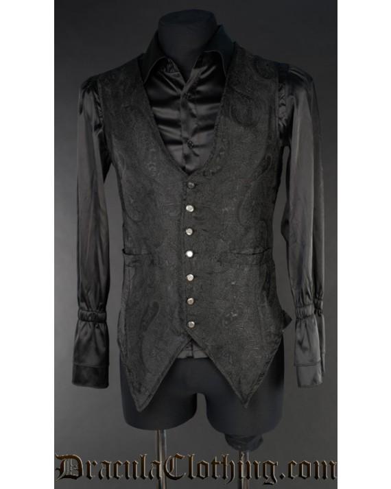 Black Marquis Long Vest