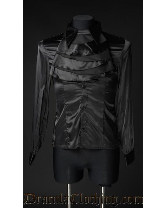 Black Satin Marquis Shirt