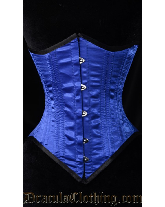 Blue Dramatic Points Corset