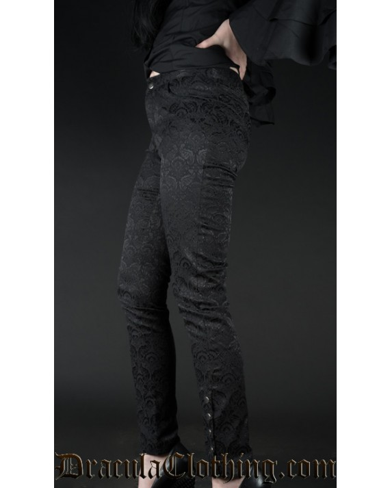 Brocade Five Button Pants