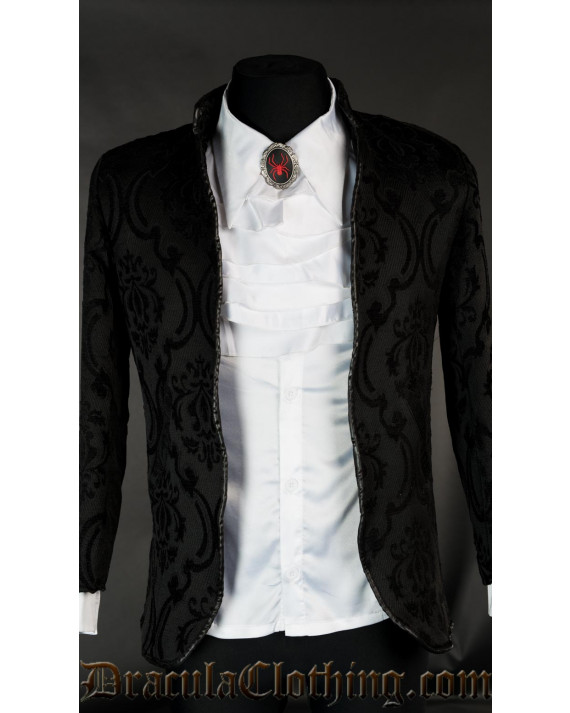 Black Brocade Nehru Jacket