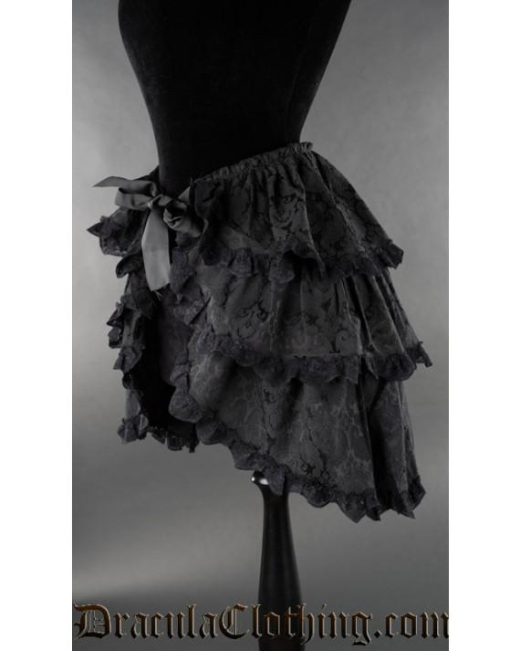Black Brocade Overskirt