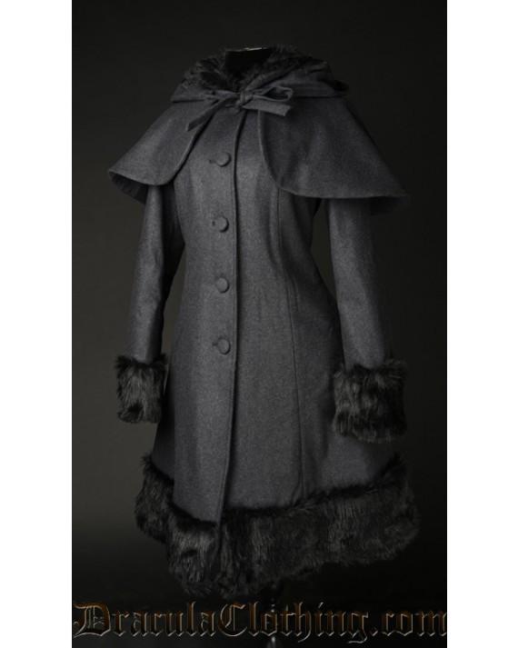 Dark Grey Thick Winter Wool Coat