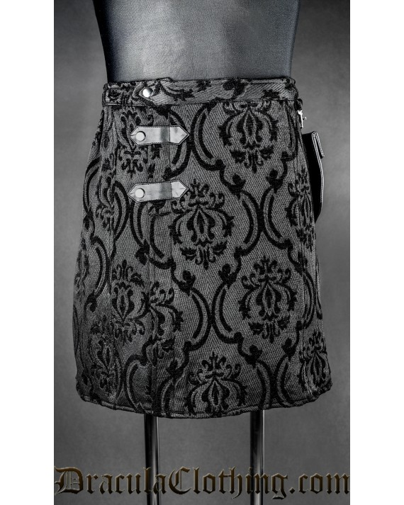 Black Brocade Kilt