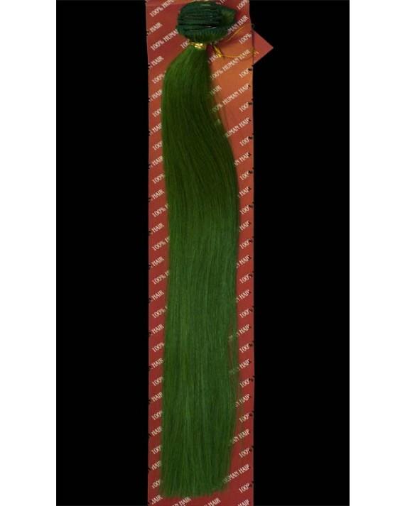 Green Real Human Hair