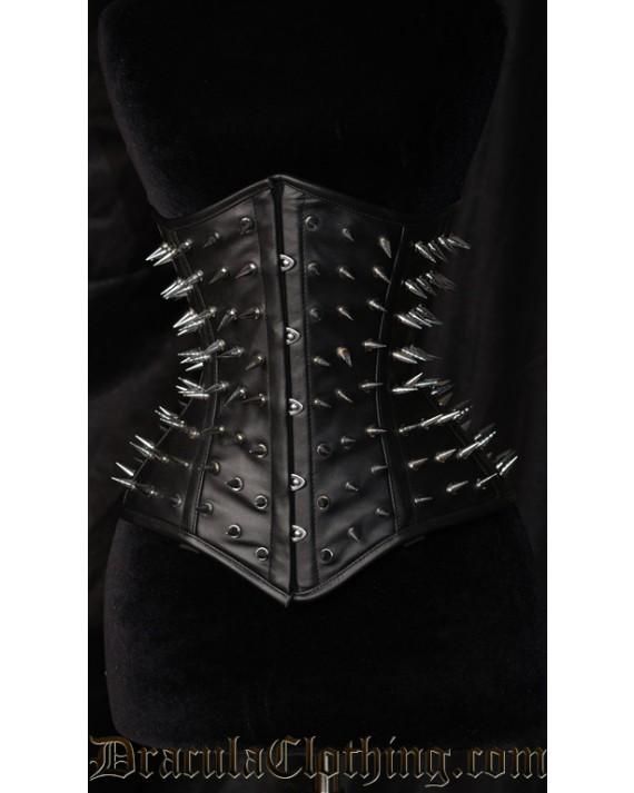 Hedgehog Faux Leather Corset