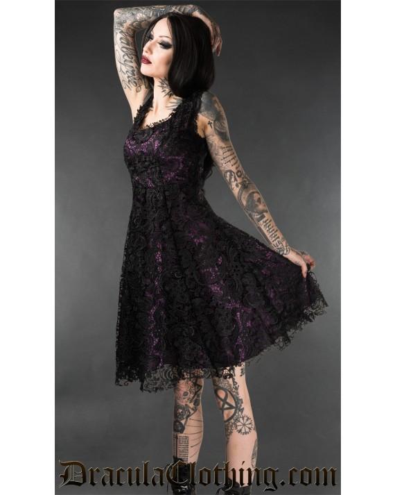 Purple Art Deco Dress