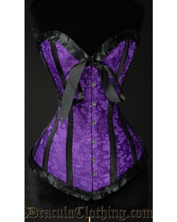 Purple Brocade Romantic Corset