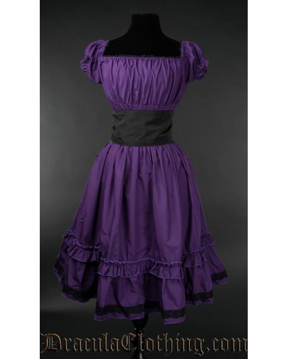 Purple Cotton Gothabilly Dress