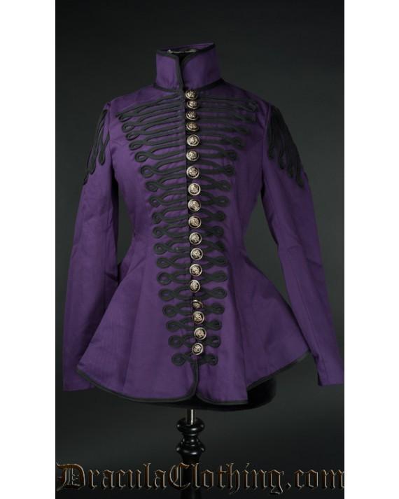 Purple Ladies Military Jacket