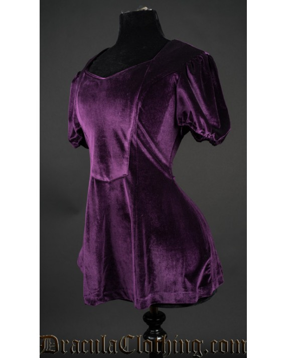 Purple Velvet Tunic