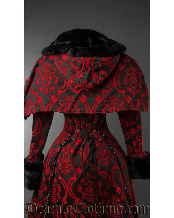 Red Brocade Hood
