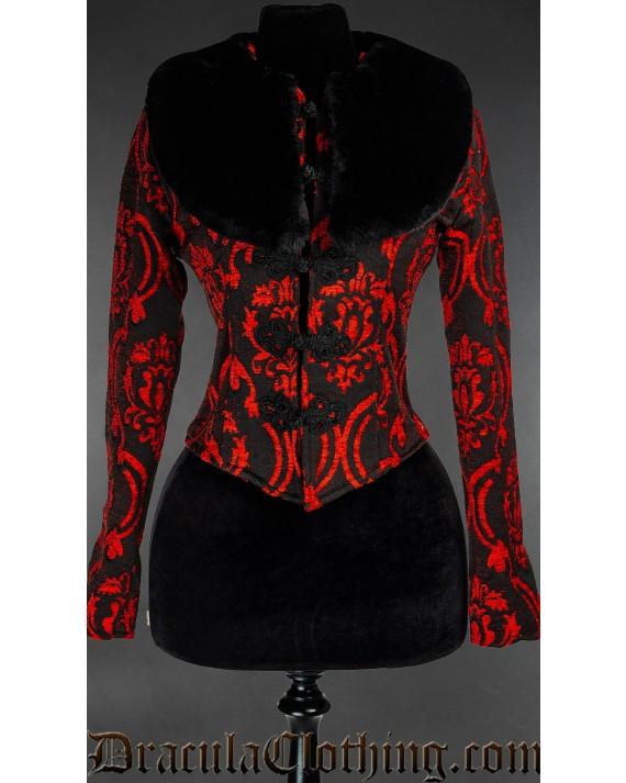 Red Brocade Luscious Jacket