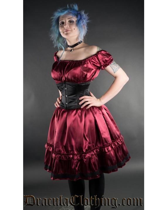 Red Satin Gothabilly Dress