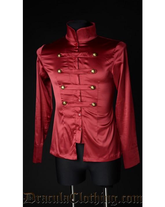 Red Satin Naval Shirt